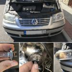 Výměna žárovky předních světel   Volkswagen Sharan   Auto   Udělej si sám