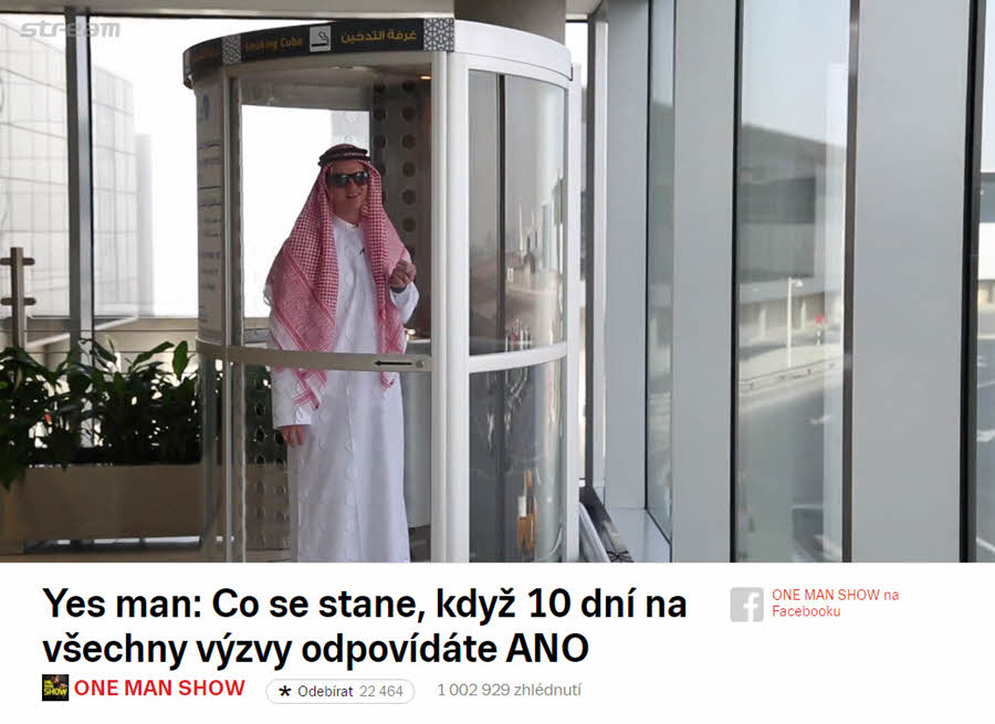 Yesman   One man show   Kaza   Zábava