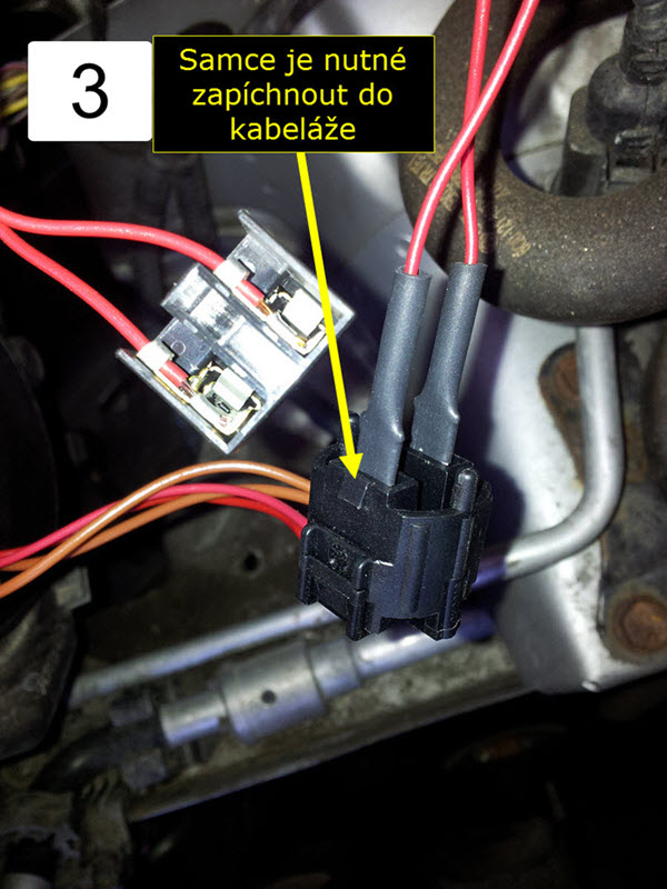 Zapojení kabeláže | Přední halogenové žárovky