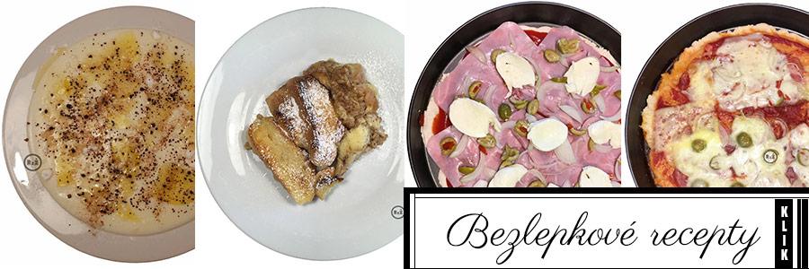 Koláž bezlepkových hlavních jídel s proklikem | Bezlepkové recepty Rady ze života | Tereza Samuelová