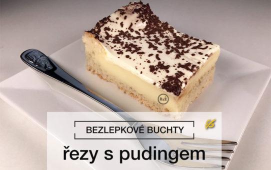 Bezlepkové řezy s pudingem na povrchu s postrouhanou čokoládou na bílém talíře s položenou vidličkou s bílým pozadím   Bezlepkové recepty   Rady ze života