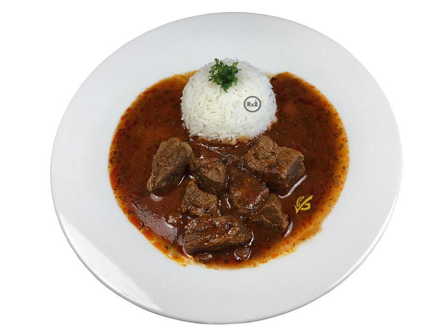 Fotografie z naší kuchyně - celý talíř s hlavním menu - Bezlepkové hovězí nadivoko | Bezlepkové recepty | 39. recept