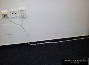 Foto: Kabely po úpravě   Organizace kabeláže