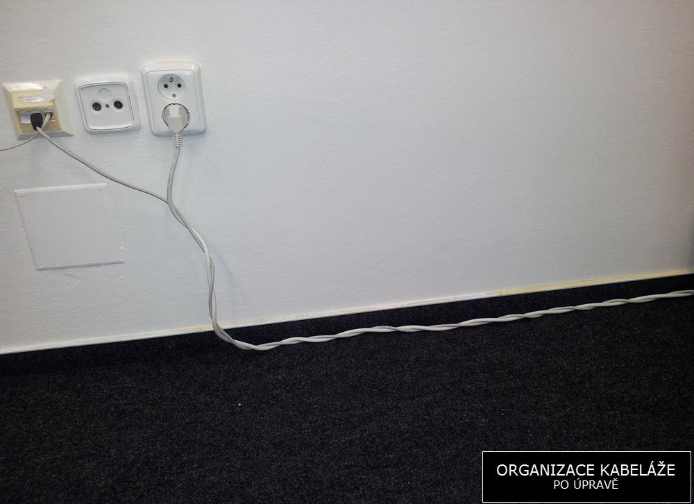 Foto: Kabely po úpravě | Organizace kabeláže