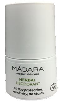 Fotografie deodorantu od značky Mádara, Bílé pouzdro se širokou aplikační kuličkou, Přírodní deodoranty | Odzkoušené | Příjemnější aplikace | Účinnější | 2.díl