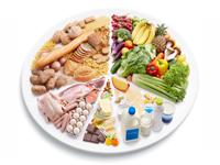 fotografie talíře s jídlem a pitím symbolizující kategorii Jídlo a Pití