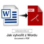 Jak vytvořit dokument v pdf | Software nastavení | radyzezivota.cz