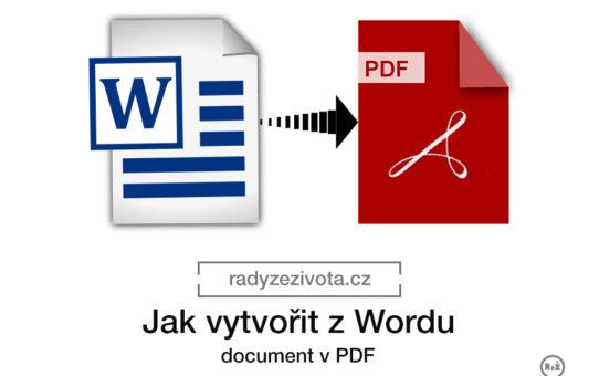 Jak vytvořit dokument v pdf   Software nastavení   Word a Acrobat   radyzezivota.cz