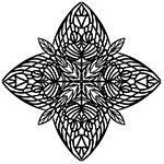 Náhledový obrázek - Mandala č.015 | Mandaly pro děti ke stažení | Ke stažení a k tisku | radyzezivota.cz