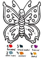 Motýl 123 omalovánka   123 Omalovánky - omalovánka podle čísel   Autor: Pája, radyzezivota.cz, Majitel: radyzezivota.cz