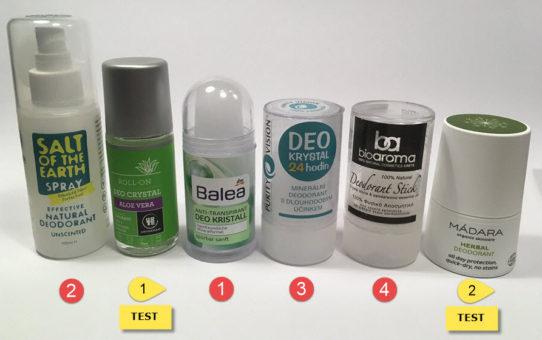 fotografie přírodní deodoranty