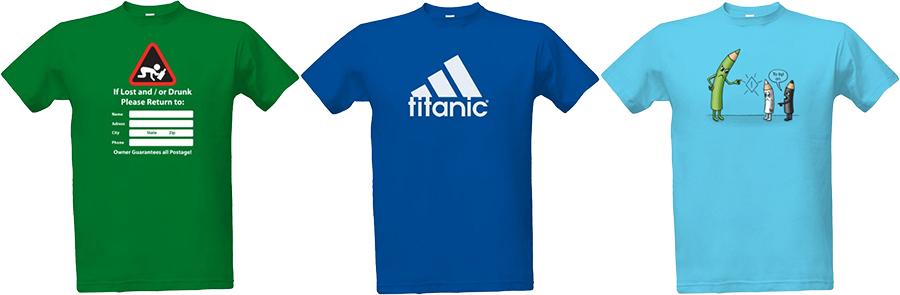 Pánské tričko s potiskem - vtipné zábavné motivy | Bavlněné tričko