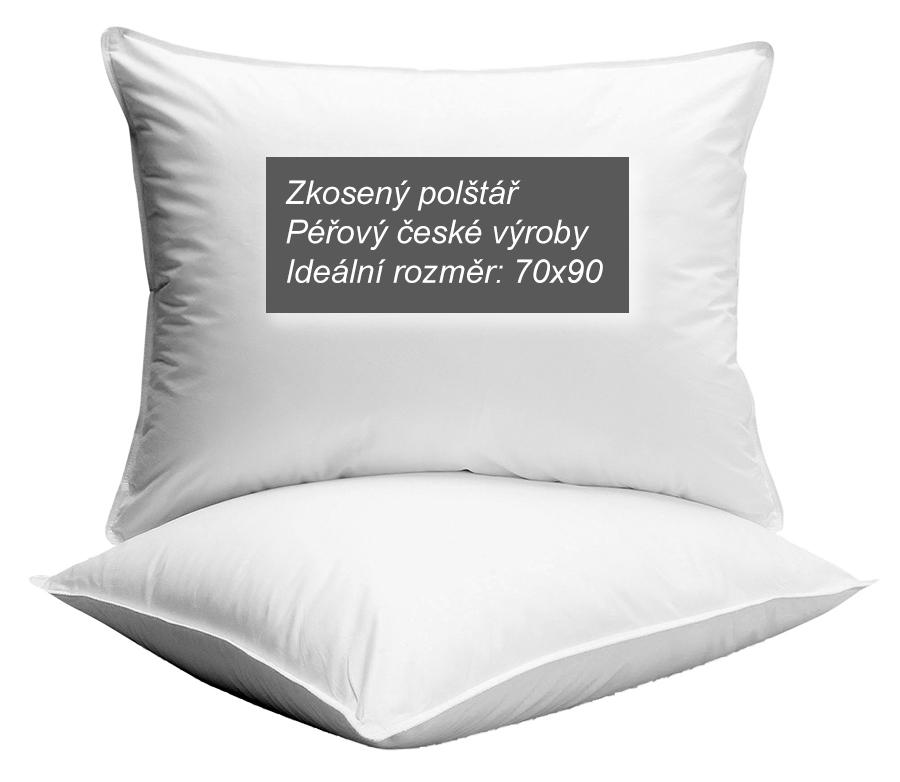 Zkosený polštář - doporučuji péřový české výroby, ideální rozměr 70x90 cm | Rady ze života