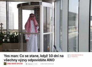 Yesman | One man show | Kaza | Zábava