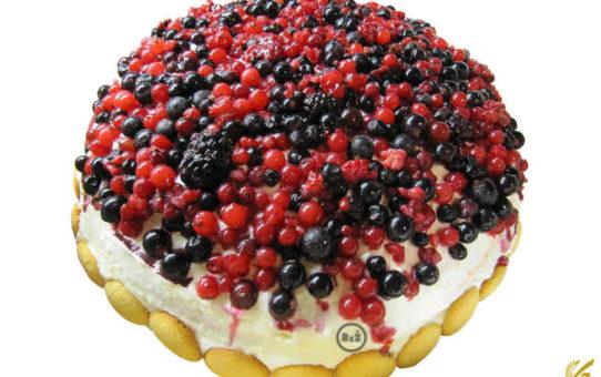 Bezlepkový tvarohový dort s ovocem | Bezlepkové recepty